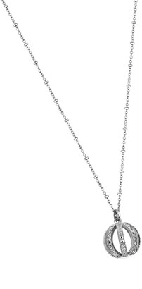 Lotus Style Women's Necklace with Pendant Stainless Steel Glass Transparent 54.5cmLS1749/1WOMEN