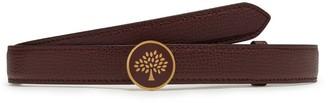 Mulberry Tree Belt Oxblood Cross Grain Leather