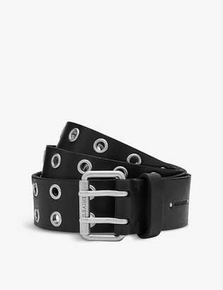AllSaints Sturge stud-embellished leather belt