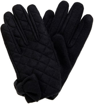 Forever New Lettie Quilted Bow Gloves - Black - 00