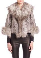 The Fur Salon Python & Fox Fur Jacket