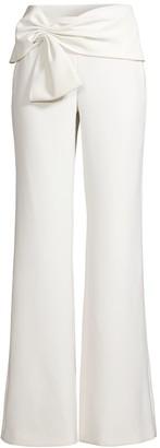 Sachin + Babi Whitley Bow-Detailed Wide-Leg Pants