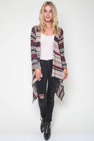Goddis Naples Wrap Sweater In Conga Pink