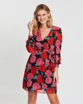 Dorothy Perkins Floral Chiffon Wrap Mini Dress