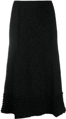 Moschino Metallic Ruffle Hem Skirt