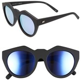 Le Specs Women's 'Neo Noir' 53Mm Oversized Sunglasses - Black Rubber