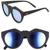 Le Specs Women's Neo Noir 53Mm Sunglasses - Black Rubber