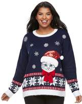It's Our Time Its Our Time Juniors' Plus Size Fairisle Sweater