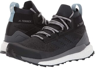 adidas Outdoor Terrex Free Hiker (Carbon/Blue Tint/Ash Grey) Women's Shoes