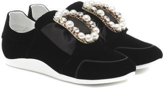 Roger Vivier Sporty Viv' Bow velvet sneakers