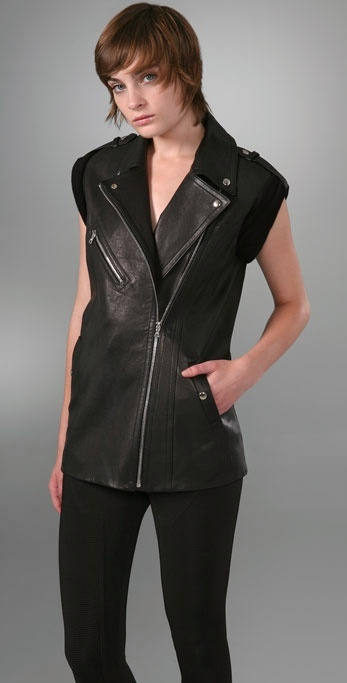 Alexander Wang Motorcycle Leather Vest