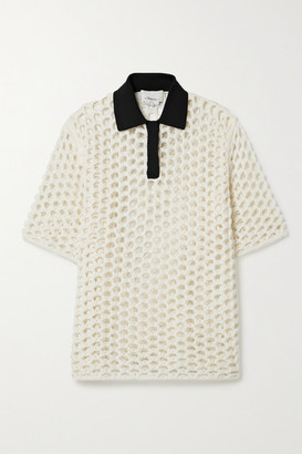 3.1 Phillip Lim Jersey-trimmed Macrame Wool Top - White