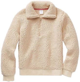 Arizona Sherpa Girls Long Sleeve Pullover Sweater Preschool / Big Kid