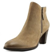 Mia Maddock Women Round Toe Leather Tan Bootie.