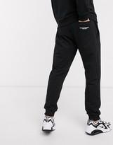 Emporio Armani logo draw cord sweatpants in black