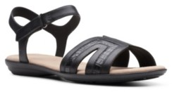 Clarks Collection Women's Ada Mist Flat Sandals Women's Shoes