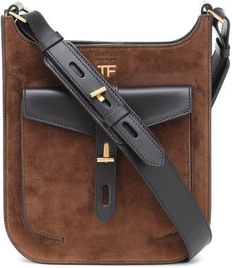 Tom Ford T Twist suede crossbody bag