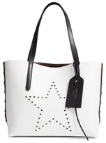 Jimmy Choo Star Studded Leather Tote - White