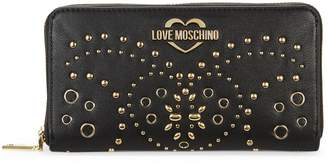 Love Moschino Portafoglio Studded Faux Leather Wallet
