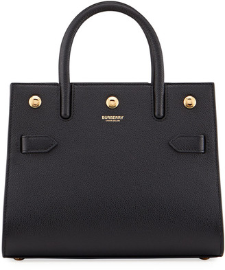 Burberry Title Baby Grainy Leather Tote Bag