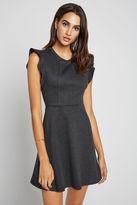 BCBGeneration Ponte Flutter-Sleeve Dress - Gray