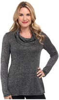 Miraclebody Jeans Sophie Shimmer Knit Cowl Call Out Soft Metallic Fabric
