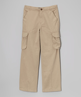 E-Land Kids Tan Cargo Pants - Infant Toddler & Boys