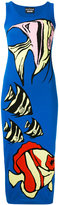 Moschino knitted fitted midi dress