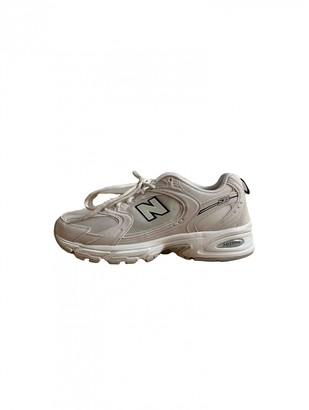 New Balance Beige Suede Trainers