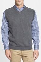 Cutter & Buck 'Broadview' V-Neck Sweater Vest (Big & Tall)