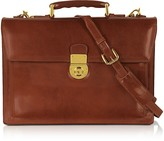 L.a.p.a. Classic Cognac Leather Briefcase
