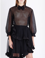 Simone Rocha Balloon-sleeve floral-lace shirt