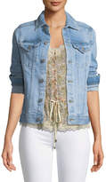 AG Jeans Mya Button-Front Light-Wash Denim Jacket