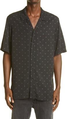 Ksubi Star Print Short Sleeve Button-Up Resort Shirt