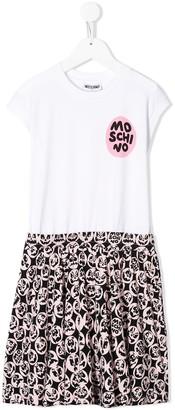 MOSCHINO BAMBINO monster print T-shirt dress
