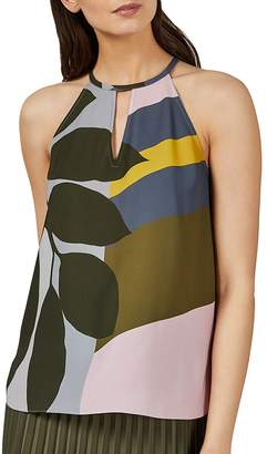 Ted Baker Toddle Color-Blocked Leaf-Print Blouse