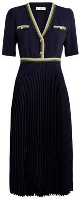 Sandro Paris Pleated Midi Dress