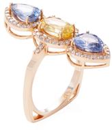 Artisan 18K Rose Gold, Sapphire & 0.54 Total Ct. Diamond Ring