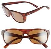 Revo Men's 'Lukee' 56Mm Polarized Sunglasses - Dark Tortoise / Blue Water