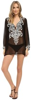 Athena Cabana Solids Tunic w/ Embroidery Cover-Up
