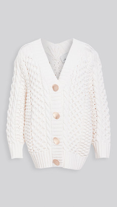 3.1 Phillip Lim Cable Cardigan with Shank Buttons
