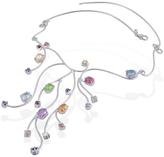 Forzieri Sterling Silver Multi-Gemstones Necklace