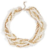 BaubleBar Women's Maxine Faux Pearl & Chain Collar Necklace