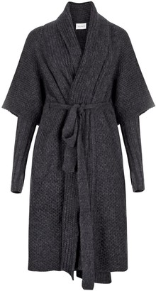 Salanida Hand Knitted Alpaca Blend Coat - Black