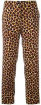 Etro floral printed cropped trousers - women - Wool - 44