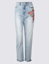Limited Edition Floral Embroidered High Waist Mom Jeans
