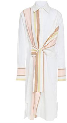Victoria Victoria Beckham Striped Cotton-poplin Midi Shirt Dress