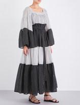Lisa Marie Fernandez Peasant polka dot maxi dress