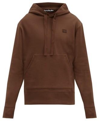 Acne Studios Ferris Face Cotton Hooded Sweatshirt - Brown