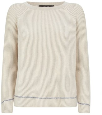 Max Mara Cotton-Wool Ribbed Sequin Sweater